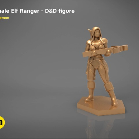 characters2.jpg Download STL file ELF RANGER FEMALE CHARACTER GAME FIGURES 3D print model • 3D printing object, 3D-mon