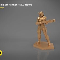 Download 3D printing designs ELF RANGER FEMALE CHARACTER GAME FIGURES 3D print model, 3D-mon