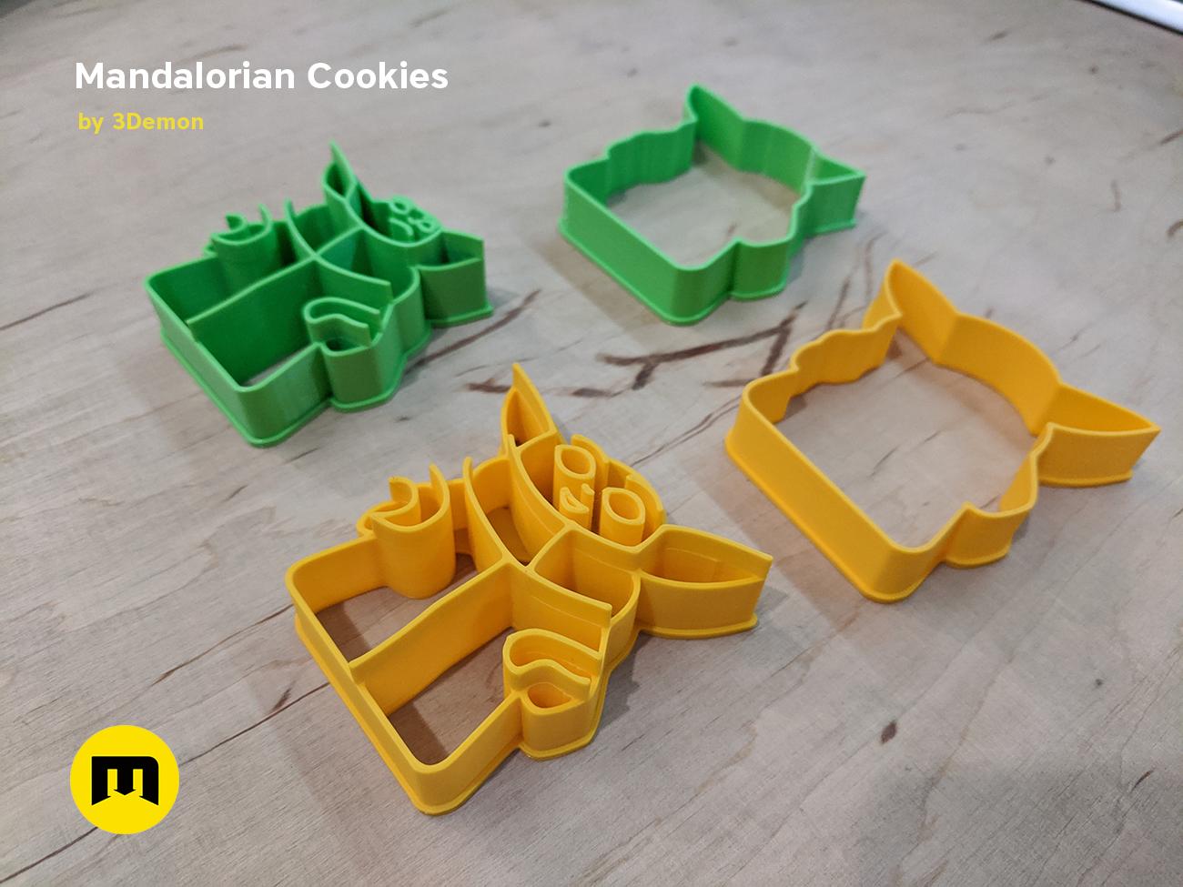 IMG_20191206_153252.png Download STL file Yoda Baby Cookie Cutter Mandalorian • 3D printer design, 3D-mon