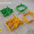 Descargar diseños 3D Cortador de galletas Yoda Baby Mandalorian, 3D-mon