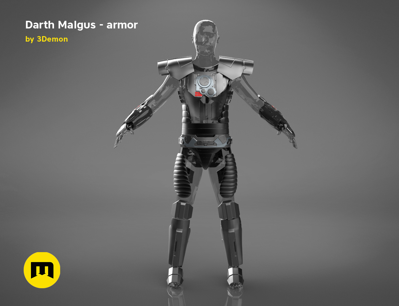 render_scene_darth-malgus-armor-color.10 kopie.jpg Download STL file Darth Malgus's full size armor • Design to 3D print, 3D-mon