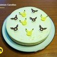 Download 3D printing models Pokemon Birthday Candles Eeveelutions and Pikachu, 3D-mon