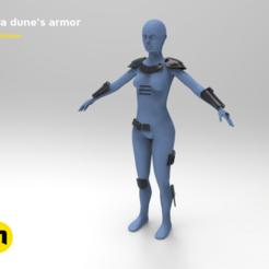 01.png Télécharger fichier OBJ L'armure de Cara Dune - Mandalorienne • Design pour imprimante 3D, 3D-mon