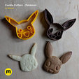 3D print model Pokemon Cookie Cutters, 3D-mon