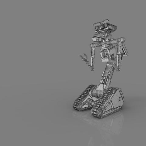 render_scene_gray_background_1300x1000.13.jpg Download STL file Johnny 5 - 3D print model • 3D printable template, 3D-mon
