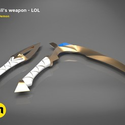 Download 3D printing models Akali's Weapon - LOL, 3D-mon