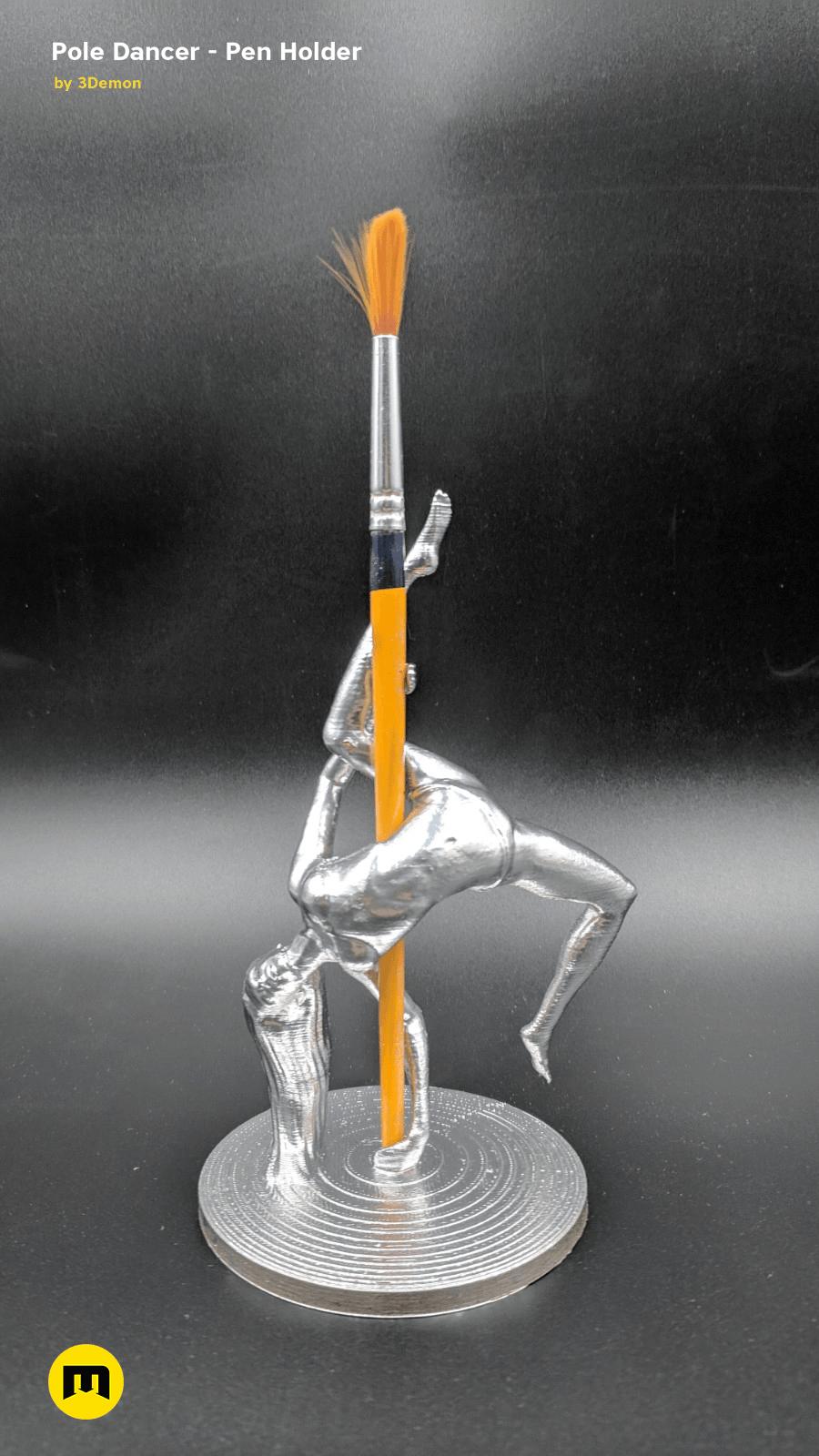 IMG_20190220_103256.png Download STL file Pole Dancer - Pen Holder • Object to 3D print, 3D-mon