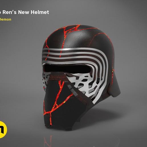 Download STL The Kylo Ren helmet destroyed - Star Wars , 3D-mon