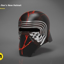 Download STL The Kylo Ren helmet destroyed - Star Wars , 3D-mon