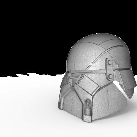 render_scene-main_render.16.png Download STL file Armory - Knights of Ren Helmet, StarWars model for 3D Print • 3D printing design, 3D-mon
