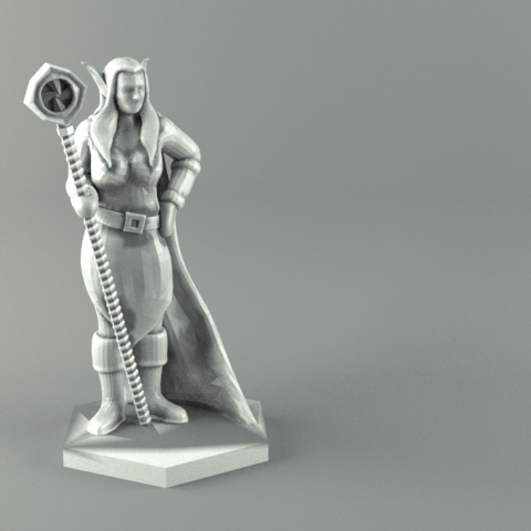 picture regarding 3d Printable Figures titled ELF MAGE Lady Individuality Activity Stats 3D print fashion