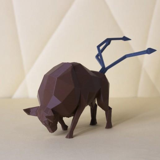 Download STL file Tauros Low Poly Pokemon • Design to 3D print, 3D-mon