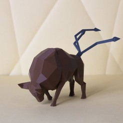 tauros low poly.jpg Download STL file Tauros Low Poly Pokemon • Design to 3D print, 3D-mon
