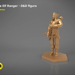 3D printer models ELF RANGER CHARACTER GAME FIGURES 3D print model, 3D-mon