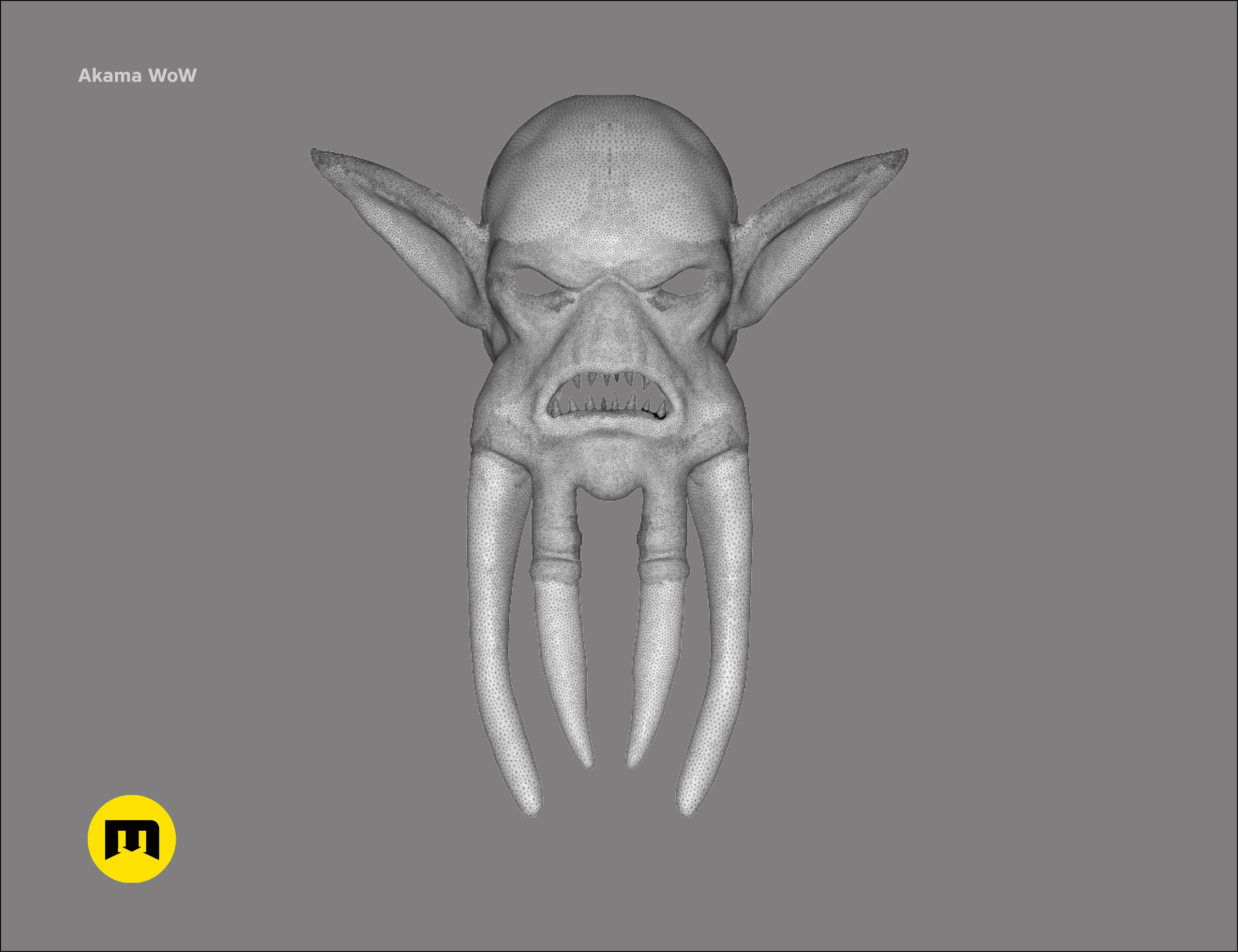 CGTrader_akama9.jpg Download STL file Mask of Akama's face from World of Warcraft • Model to 3D print, 3D-mon