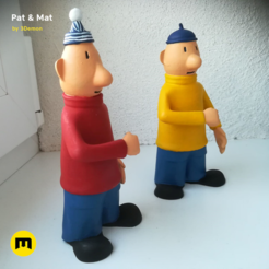 Download 3D model Pat & Mat Figures, 3D-mon