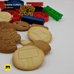 Fichier impression 3D Marvel Cookie Cutters set, 3D-mon