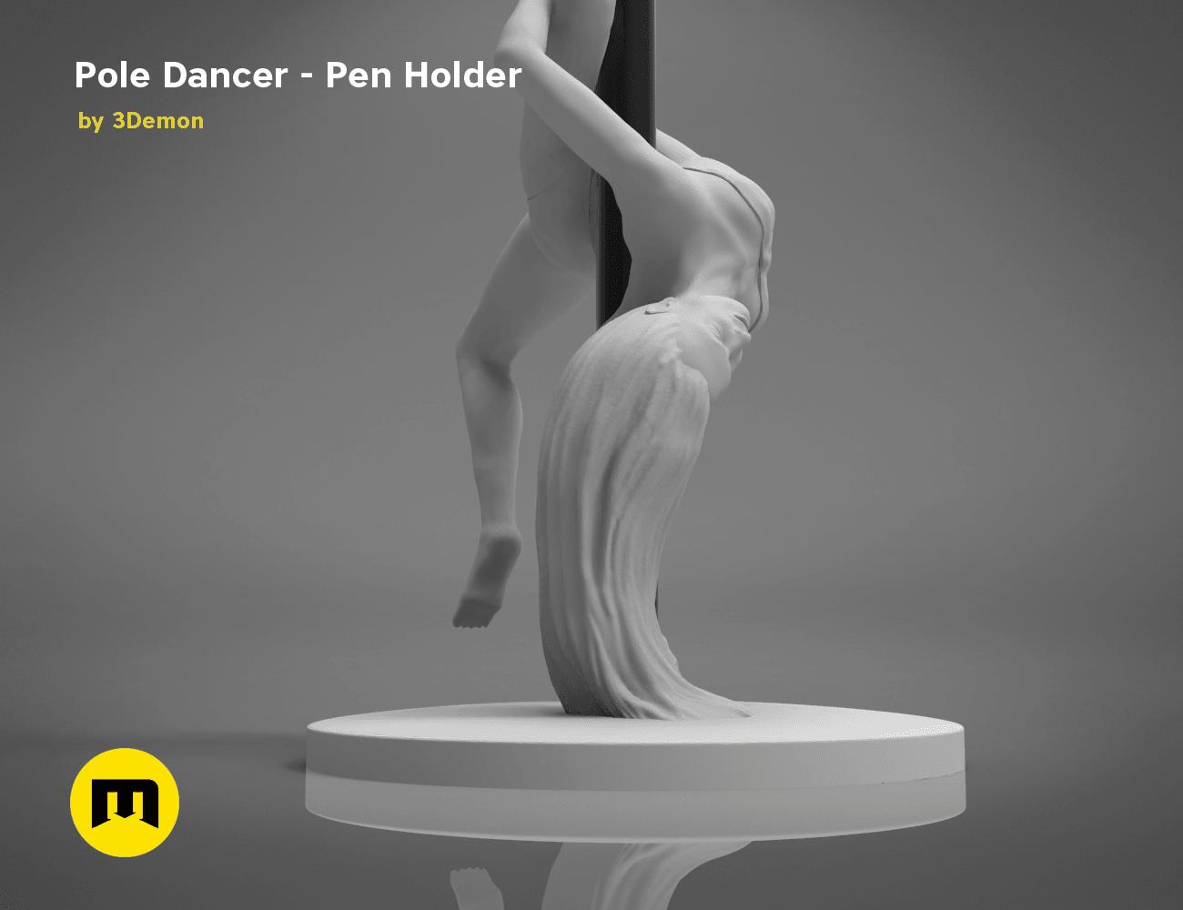 poledancer-bottom.186.png Download STL file Pole Dancer - Pen Holder • Object to 3D print, 3D-mon