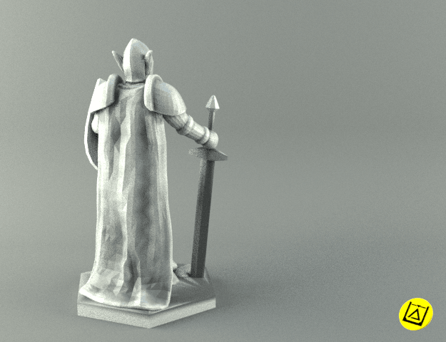 2warrior.png Download STL file ELF WARRIOR CHARACTER GAME FIGURE 3D print model • Object to 3D print, 3D-mon
