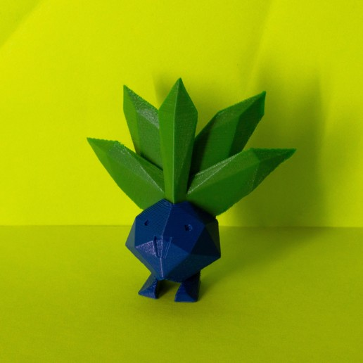Download OBJ file Oddish Low Poly Plant Pokemon • 3D printing object, 3D-mon