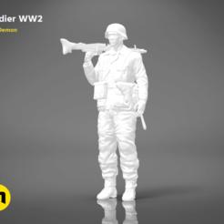 Descargar diseños 3D Soldado de la Segunda Guerra Mundial - FIGURA MODELO 3D, 3D-mon