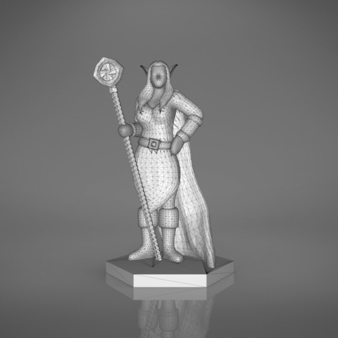 Mage_2_-front_perspective.177.jpg Download STL file ELF MAGE FEMALE CHARACTER GAME FIGURES 3D print model • 3D printing template, 3D-mon