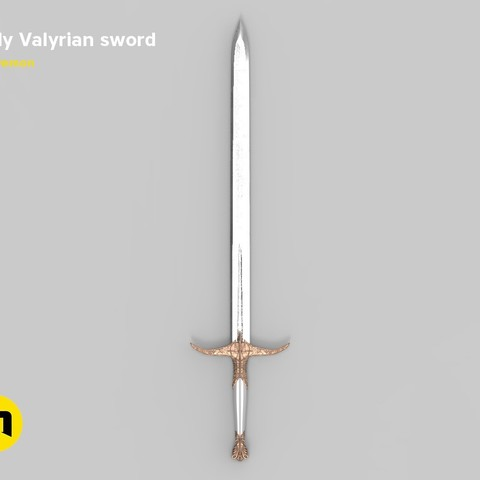 Download 3D model Tarly Valyrian sword Heartbanes, 3D-mon