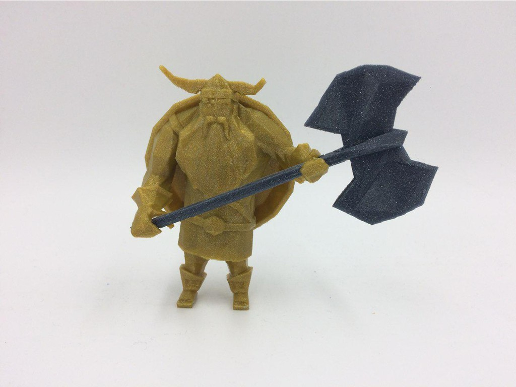 4.jpg Download free STL file Lowpoly Viking • 3D printer design, 3D-mon