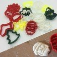 STL Christmas cookie cutters, 3D-mon