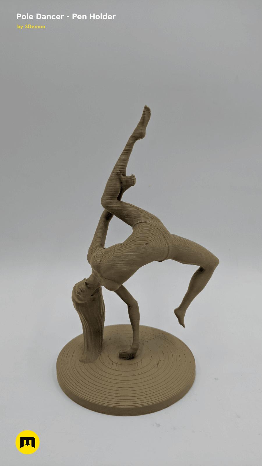 IMG_20190219_154835.png Download STL file Pole Dancer - Pen Holder • Object to 3D print, 3D-mon