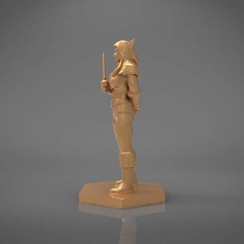 Rogue_2-right_perspective.451.jpg Download STL file ELF ROGUE FEMALE CHARACTER GAME FIGURES 3D print model • 3D printer object, 3D-mon