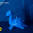 Download STL file Lapras Low Poly Pokemon • 3D printing model, 3D-mon