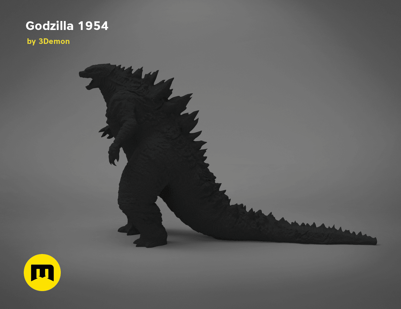 godzilla-black-japanese-right.197.png Download free OBJ file Godzilla 1954 figure and bottle opener • 3D printer model, 3D-mon