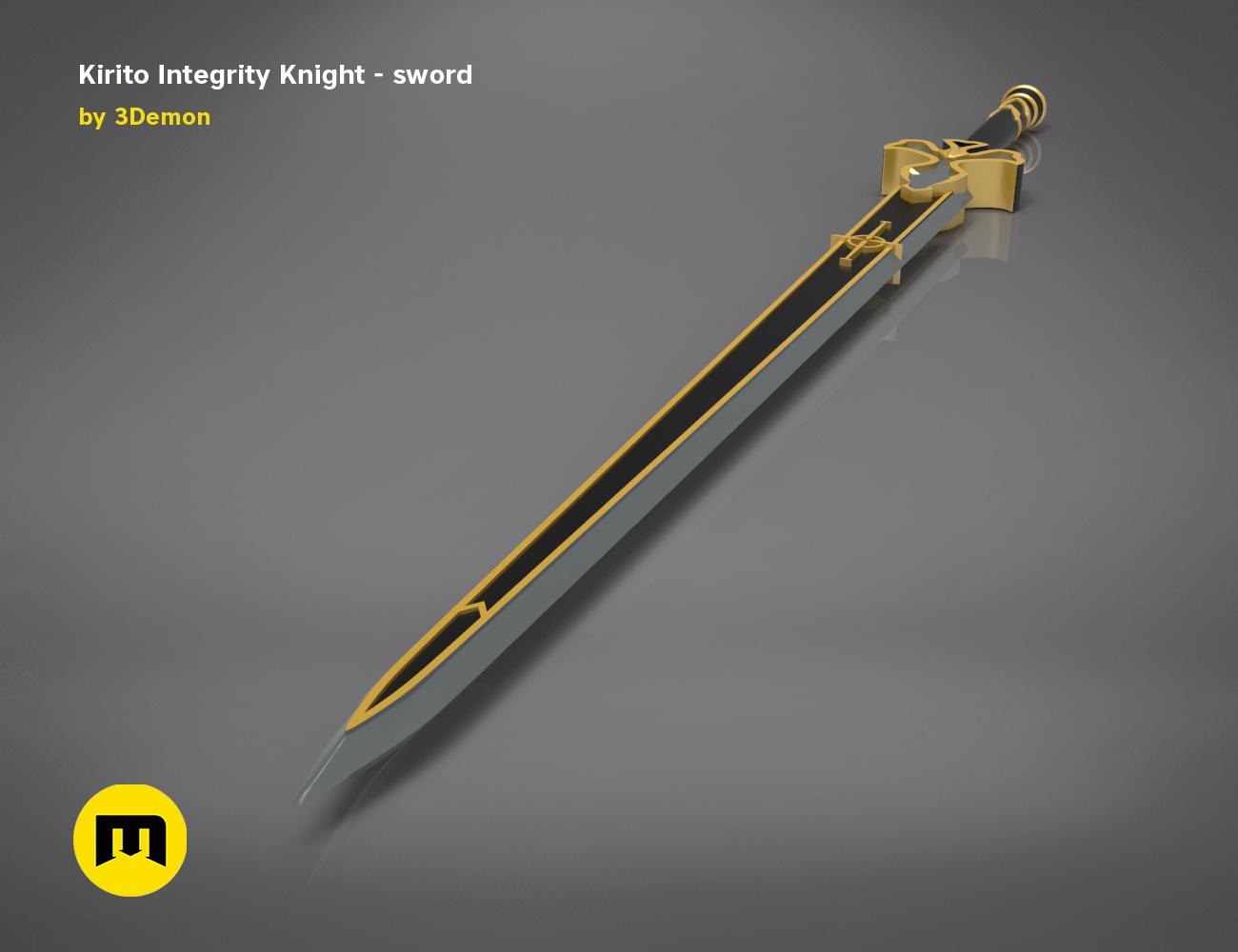 render_scene_Integrity-knight-sword.11 kopie.jpg Download STL file Kirito's Sword - Integrity Knight • 3D print model, 3D-mon