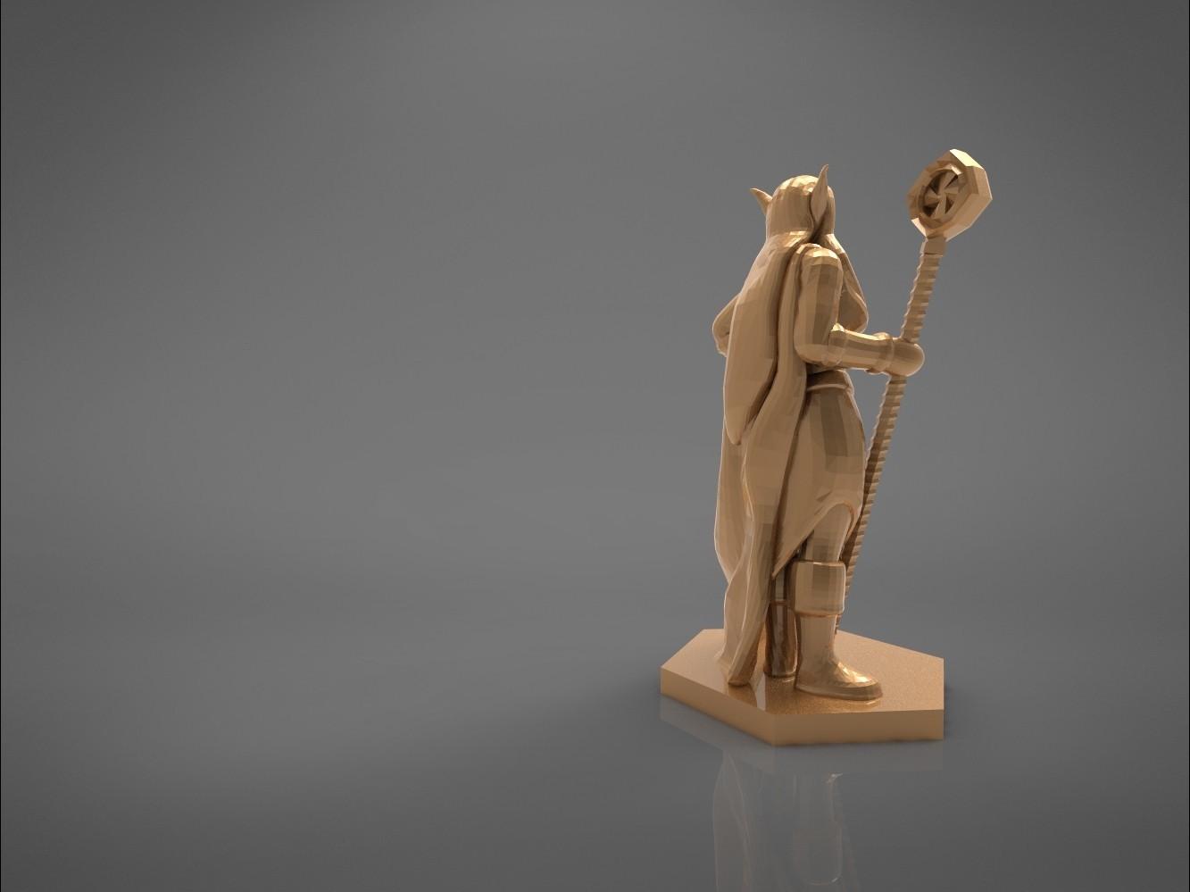 Mage_2_-main_render_2.167.jpg Download STL file ELF MAGE FEMALE CHARACTER GAME FIGURES 3D print model • 3D printing template, 3D-mon