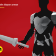 3D printer files Goblin Slayer Armor and Weapons, 3D-mon