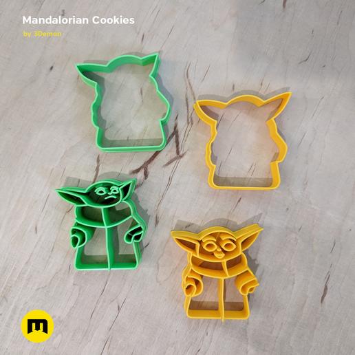 IMG_20191206_153239.png Download STL file Yoda Baby Cookie Cutter Mandalorian • 3D printer design, 3D-mon