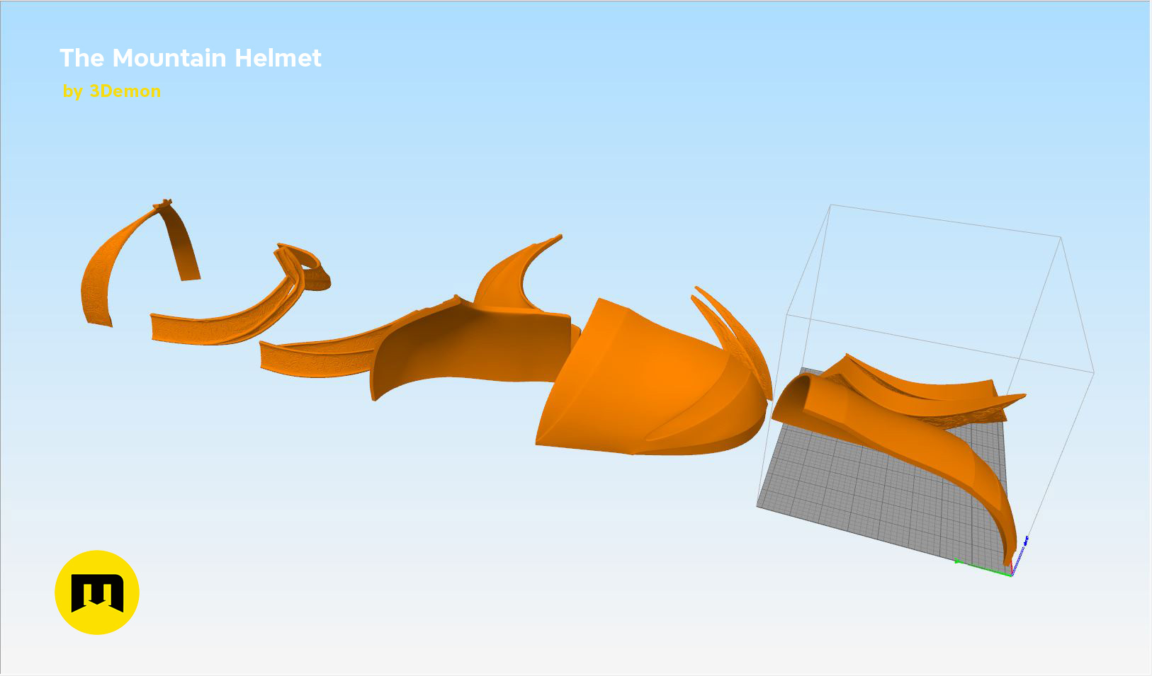 GoT-mountain-helmet-parts2.jpg Download STL file The Mountain Helmet – Game of Thrones • 3D printing model, 3D-mon