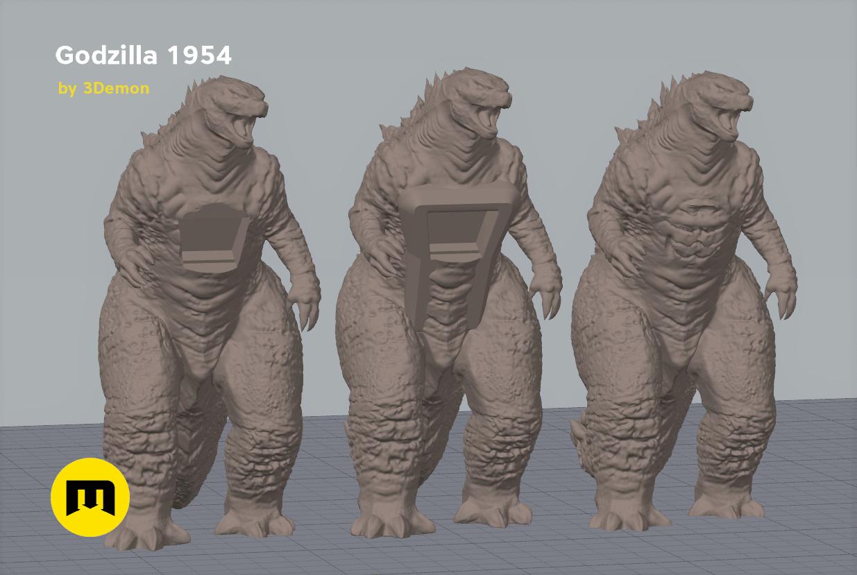 godzilla_screenshot.png Download free OBJ file Godzilla 1954 figure and bottle opener • 3D printer model, 3D-mon