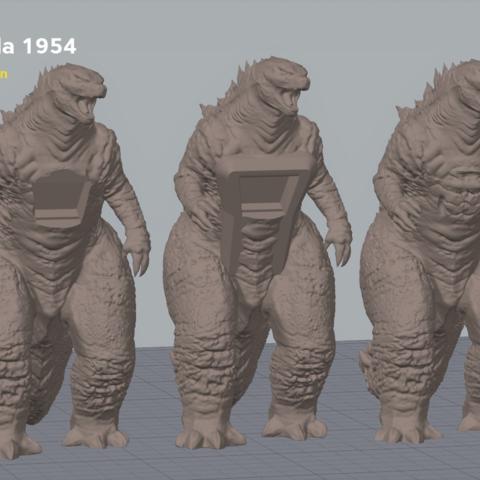 godzilla_screenshot.png Télécharger fichier OBJ gratuit Godzilla 1954 figurine et ouvre-bouteille • Objet imprimable en 3D, 3D-mon