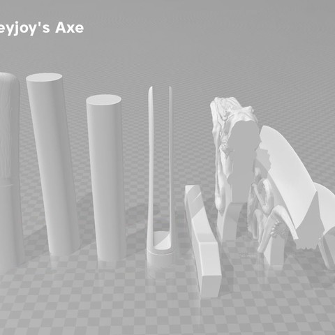parts.JPG Download OBJ file Euron Greyjoy's Axe • 3D printable object, 3D-mon