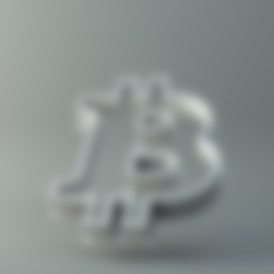 Download free STL file Bitcoin cookie cutter • 3D printable template, 3D-mon