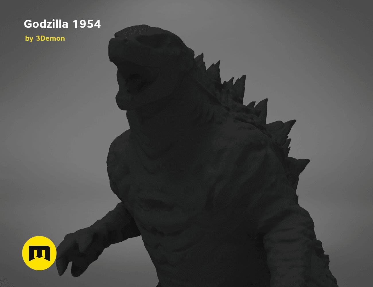 godzilla-black-japanese-detail1.191.png Download free OBJ file Godzilla 1954 figure and bottle opener • 3D printer model, 3D-mon