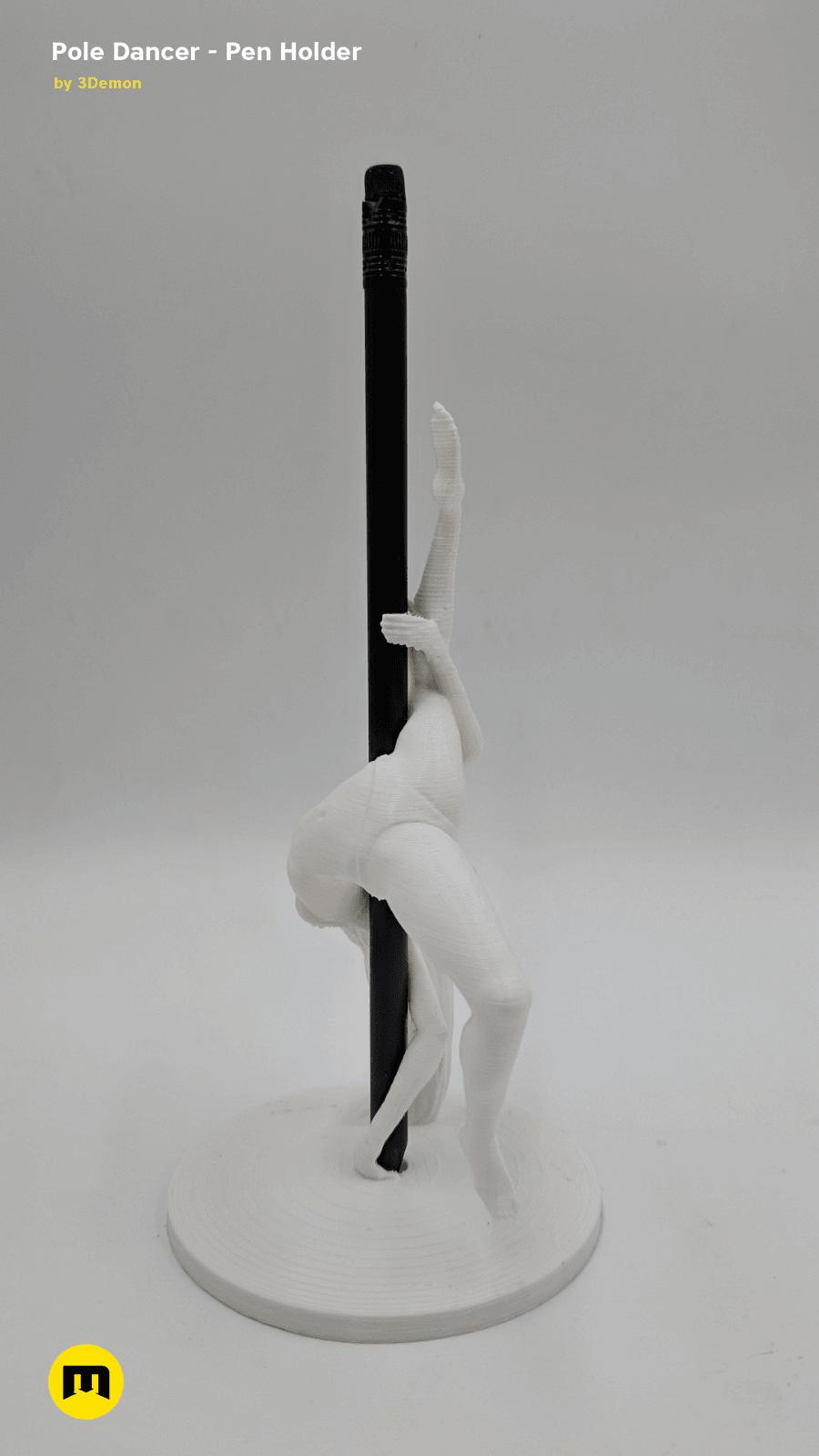 IMG_20190219_142058.png Download STL file Pole Dancer - Pen Holder • Object to 3D print, 3D-mon