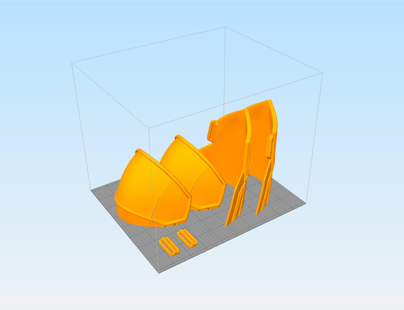 3D1BW.png Download STL file White shoulder armor – BLACK WIDOW 3D PRINT MODEL • 3D printable template, 3D-mon
