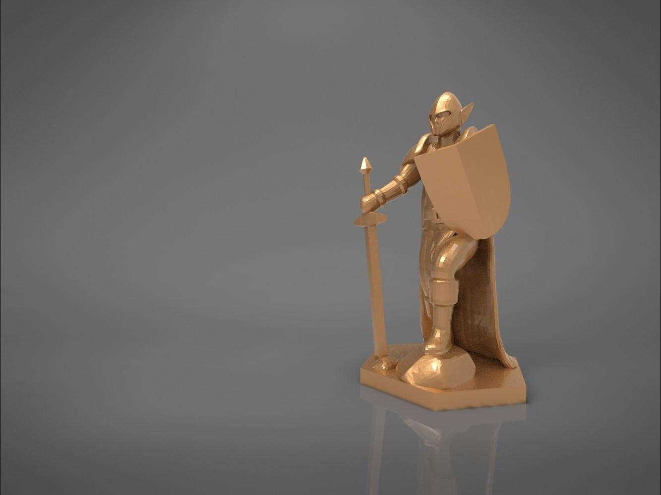 Warrior-main_render.398.jpg Download STL file ELF WARRIOR CHARACTER GAME FIGURE 3D print model • Object to 3D print, 3D-mon
