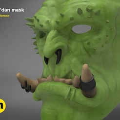Download 3D printer designs Gul´dan mask, 3D-mon