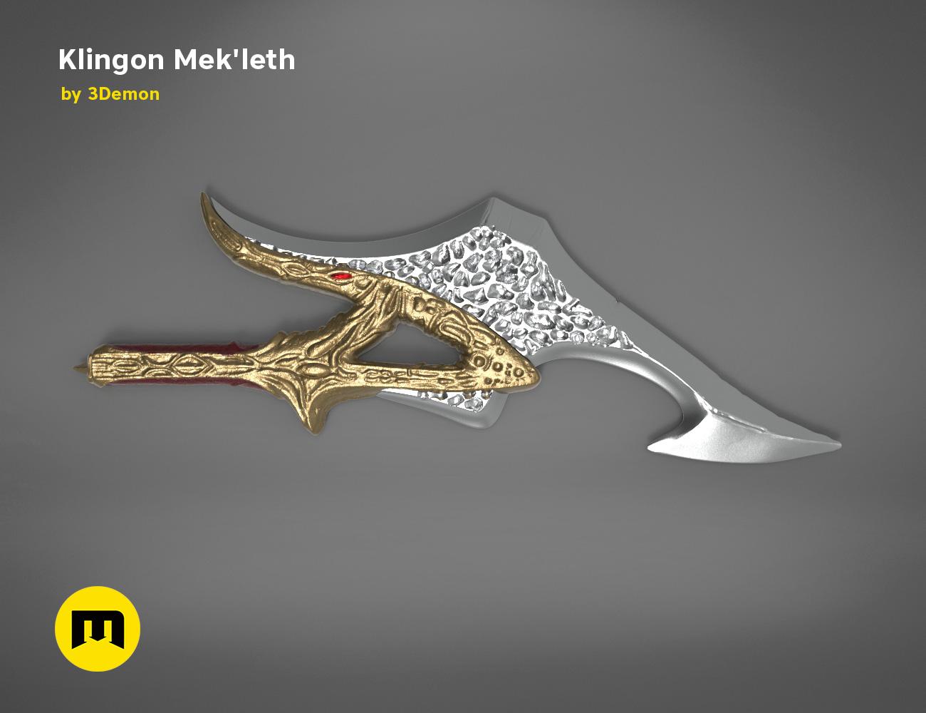 mekleth1_color_render.469.jpg Download OBJ file Klingon Mek'leth - Star Trek • Model to 3D print, 3D-mon