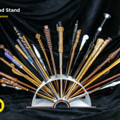 Download free STL files Open Book Harry Potter Wand Stand, 3D-mon