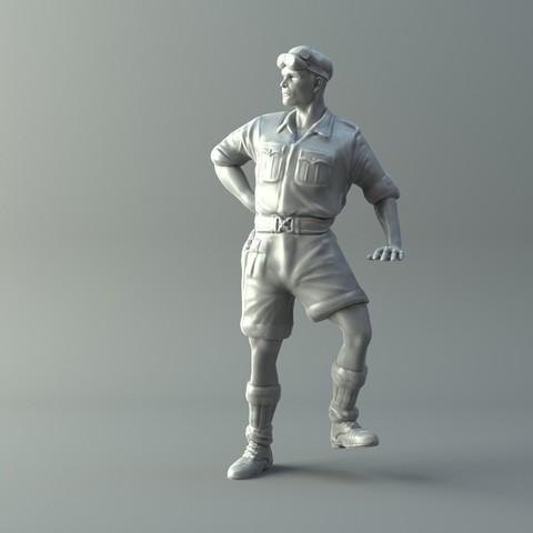 Archivos STL Capitán miniatura II Guerra Mundial Modelo de impresión 3D, 3D-mon